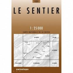 Le Sentier Carte Suisse au 25000eme Le Grand Risoux Lac de Joux Mont-Tendre
