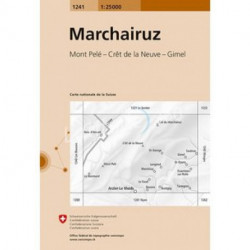 Marchairuz carte suisse au 25000eme Mont Pelé Crêt de la Neuve Gimel