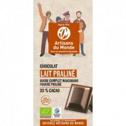 Chocolat bio lait praliné