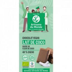 Chocolat lait de coco VEGAN