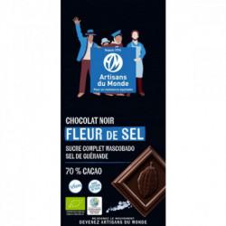 Chocolat noir bio 70% à la fleur de sel
