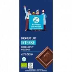 Chocolat lait bio 42%