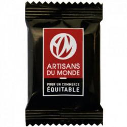 Carrés de chocolat noir bio Napolitains