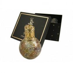 Coffret Cadeau - Lampe à Parfum Mosaïque Or - Rose