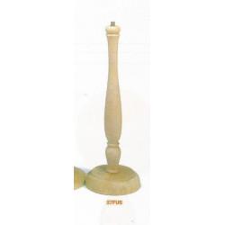 (BOIS BRUT) PIED DE LAMPE FUSEAU Bois naturel 37 cm