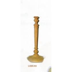 (BOIS BRUT) PIED DE LAMPE bois naturel CANNELE 32 cm