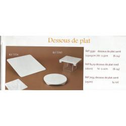 (PORCELAINE) DESSOUS DE PLAT PORCELAINE BLANCHE