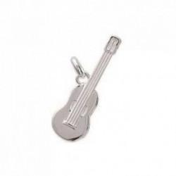 Pendentif guitare classique en argent