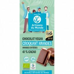 Chocolat bio VEGAN Croquant Amandes