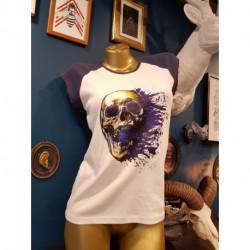 T-shirt femme imprimé tete de mort