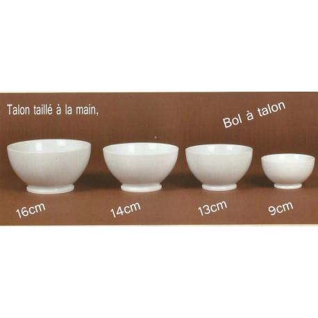 (PORCELAINE) BOLS A TALON porcelaine blanche