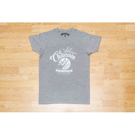 """T-shirt Homme """"Chacom Deluxe"""" Gris Chiné"""