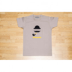 "T-shirt Homme ""Chacom Moustache"" - Taupe"