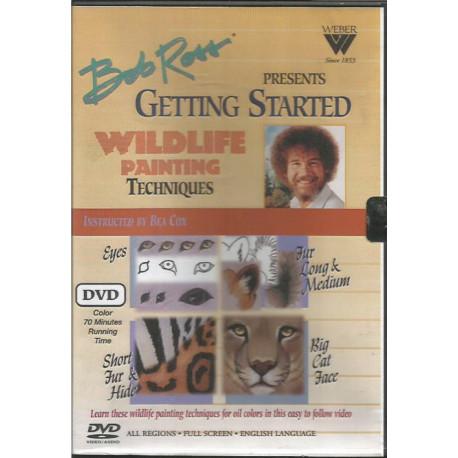 (BOIS) DVD PEINTURE SUR BOIS de Bob Ross WILDLIFE PAINTING TECHNIQUES
