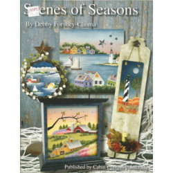 (BOIS) LIVRE PEINTURE SUR BOIS SCENES OF SEASONS de Debby FORSHEY-CHOMA