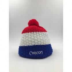 Bonnet Pompon Chacom Tricolore