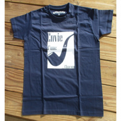 """T-shirt Homme - """"Envie d'une pipe Chacom"""" - Bleu Marine"""