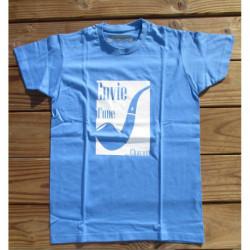 """T-shirt Homme - """"Envie d'une pipe Chacom"""" - Bleu clair"""