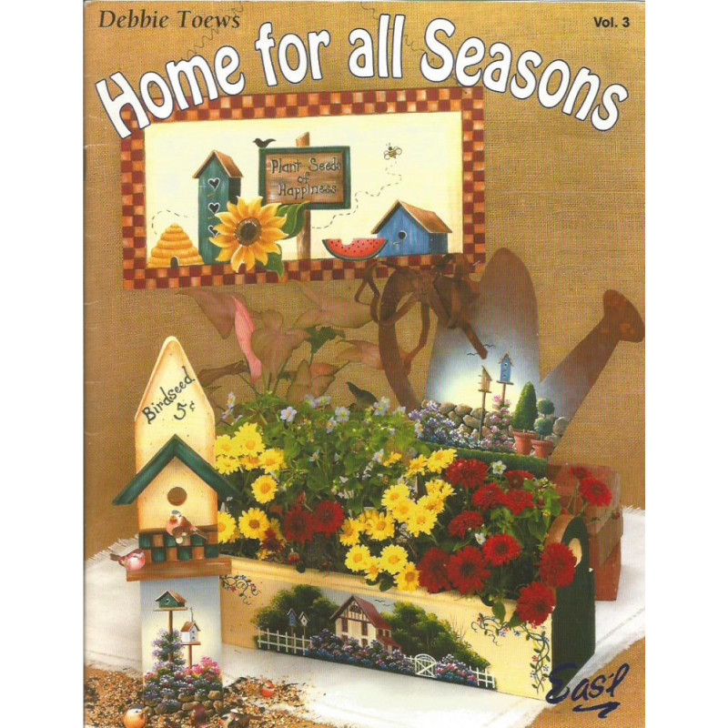 """/""""HOME FOR ALL SEASONS 8/"""" PAINT BOOK DEBBIE TOEWS NEW"""