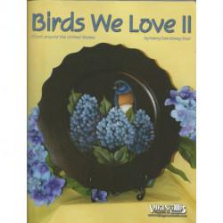 (BOIS) LIVRE PEINTURE SUR BOIS BIRDS WE LOVE de Nancy DALE KINNEY