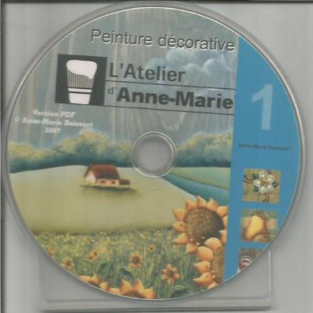 (BOIS) CD ET DVD PEINTURE SUR BOIS de Anne-Marie BOISVERT