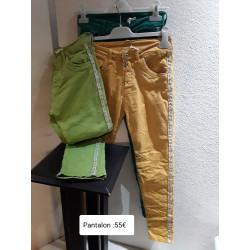 Jean couleur bandes cotés ALEXANDRA ST CLAUDE