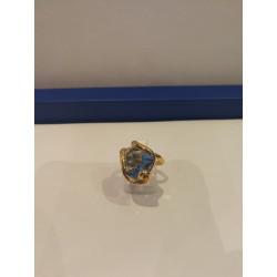 Collier Coeur - Crystals Bleu Swarovski - Chaîne Argent - Andrea Marazzini