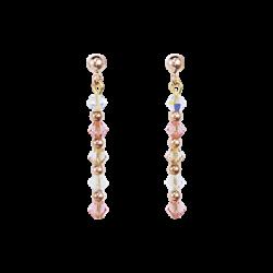 Boucles D'oreilles - Rose Et Blanc - Coeur De Lion - Pesenti