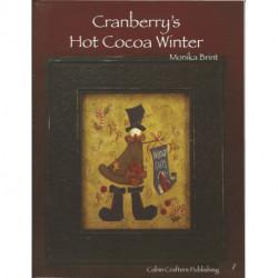 (BOIS) LIVRE PEINTURE SUR BOIS CRANBERRY'S HOT COCOA WINTER
