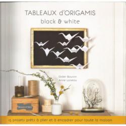 (PAPIER) LIVRE TABLEAUX D'ORIGAMIS BLACK & WHITE de Didier Boursin