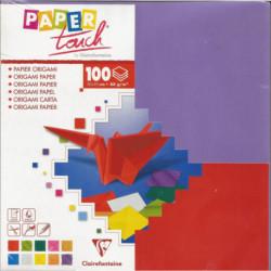 (PAPIER) PAPIER ORIGAMI 100 feuilles 20/20 cm