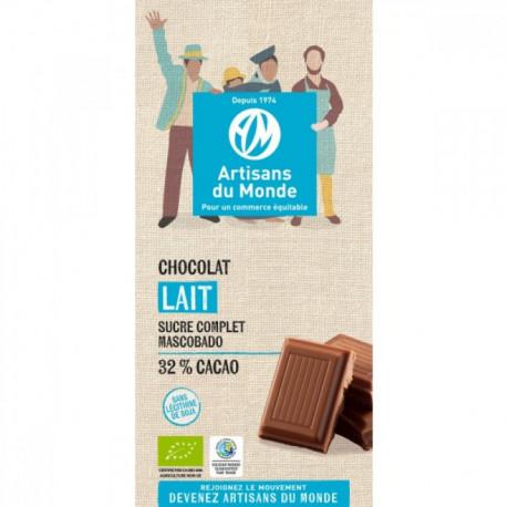 Chocolat bio lait