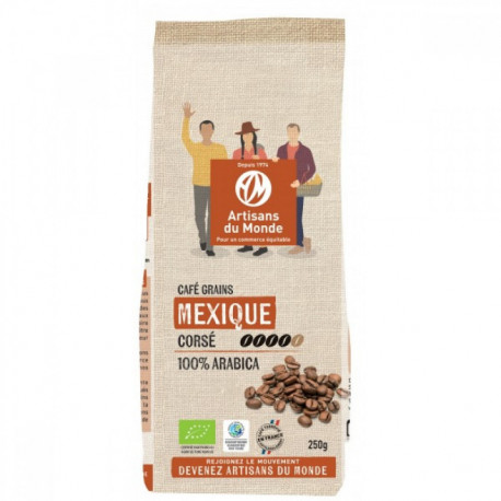Café bio du Mexique en grains