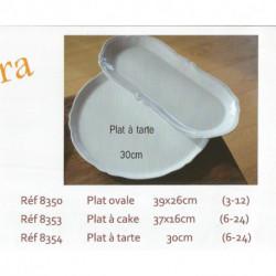 (PORCELAINE) PLATS PORCELAINE BLANCHE CAKE ET TARTE SERIE CLARA